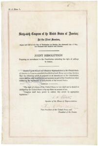 19th Amendment to the U.S. Constitution