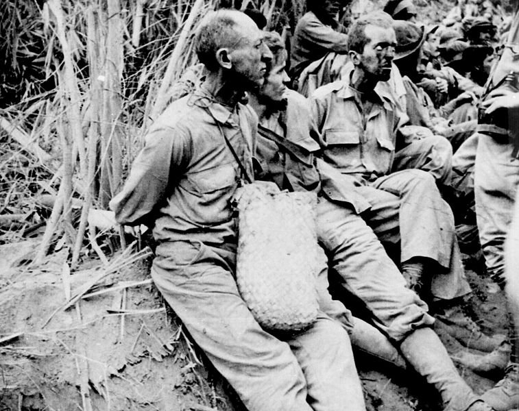 Prisoners on the Bataan Death March, April 1942