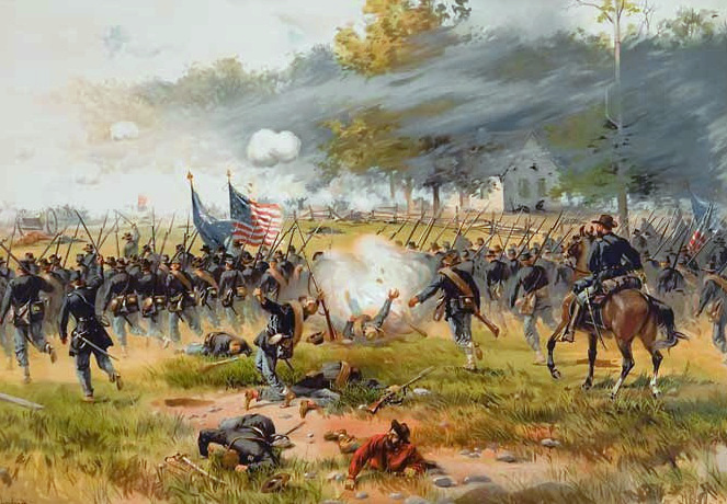 """Battle of Antietam,"" by Thure de Thulstrup"