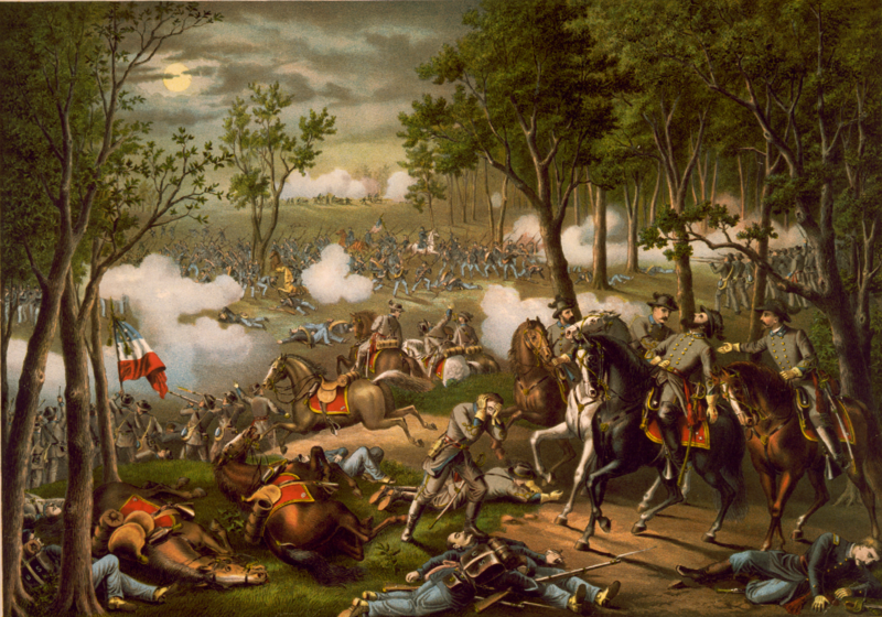 """Battle of Chancellorsville,"" by Kurz and Allison"