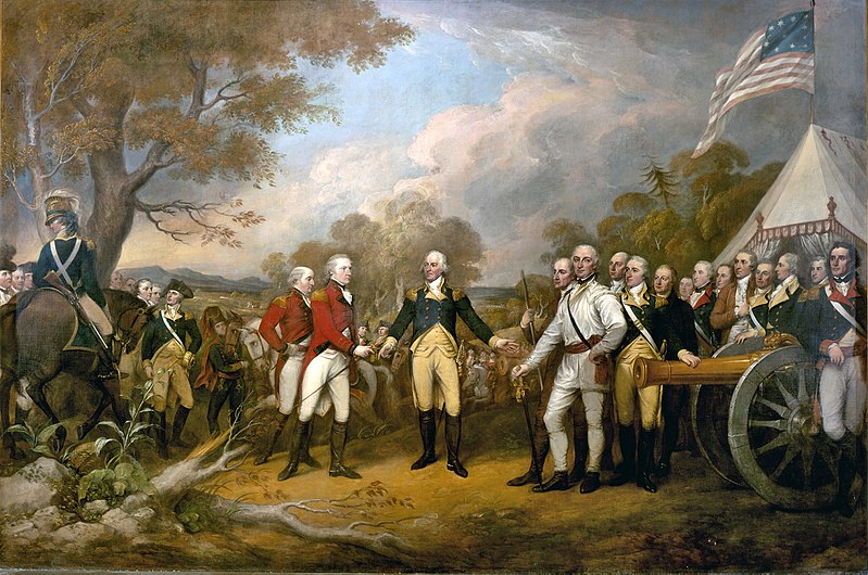 "Battles of Saratoga: ""Surrender of General Burgoyne,"" by John Trumbull"