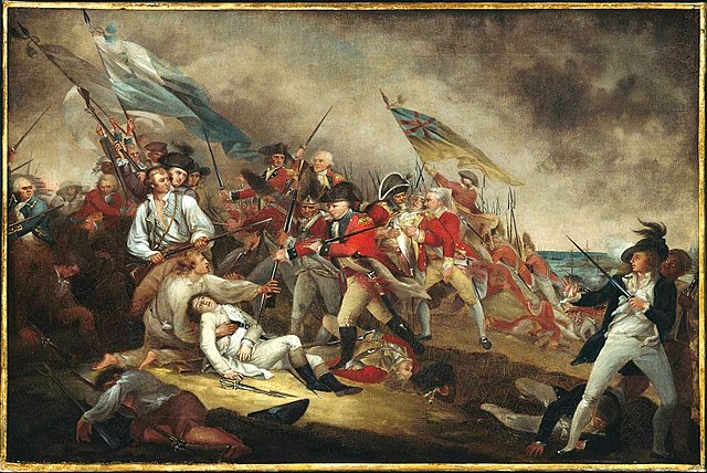"""The Death of General Warren at the Battle of Bunker's Hill, June 17,1775,"" by John Trumbull"