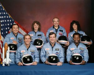 Crew members of the Space Shuttle Challenger's final mission