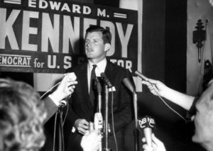 Ted Kennedy in 1962, 7 years before the Chappaquiddick Incident