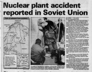 Chernobyl Disaster newspaper headline (The Morning Call via Newspapers.com)