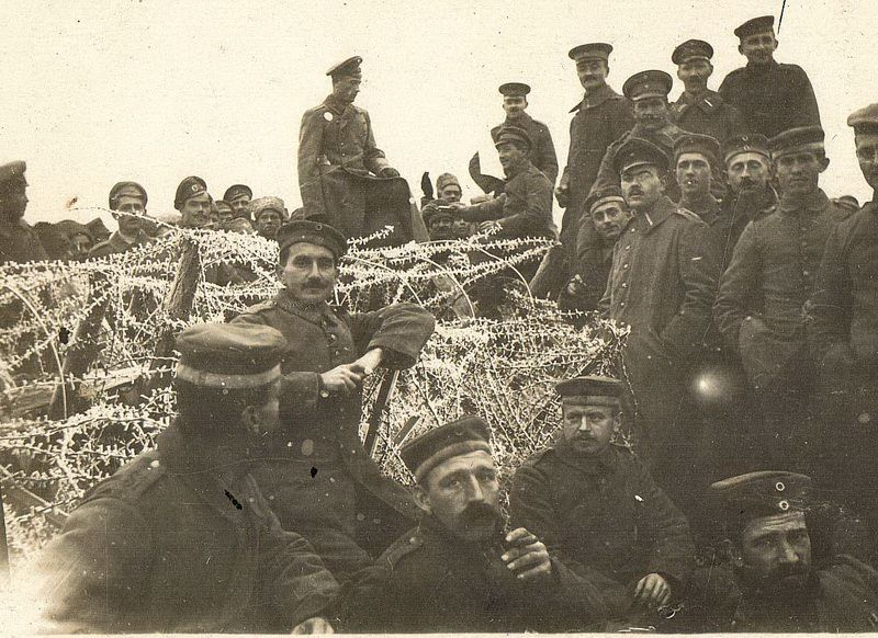 German soldiers during the Christmas Truce of 1914