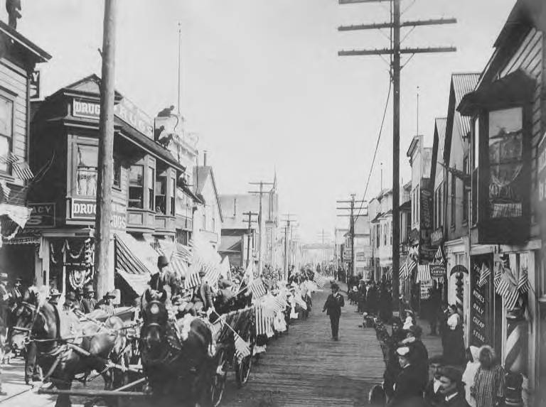 Decoration Day parade held in Nome, Alaska, sometime between 1900 and 1910