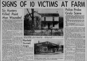 Headlines from the Ed Gein murders (Stevens Point Daily Journal, via Newspapers.com)