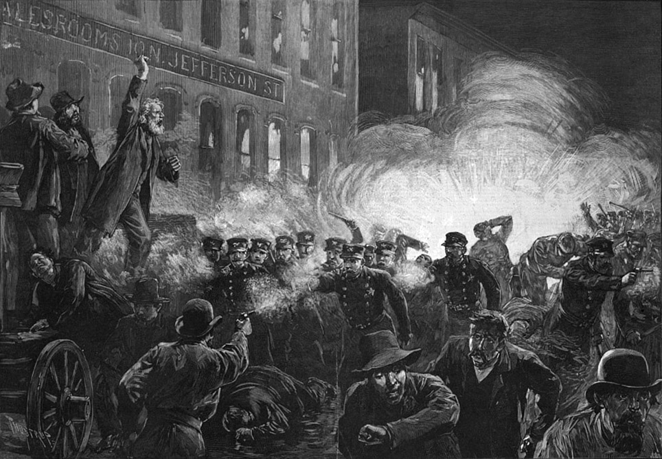 The Haymarket Riot from Harper's Weekly
