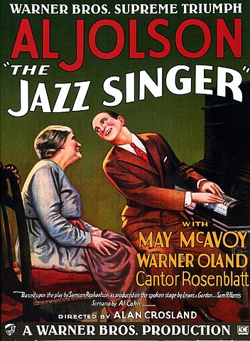 Poster for the movie The Jazz Singer (1927)