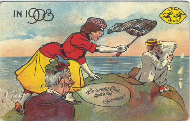 Leap Year postcard from 1908