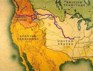 Map of Lewis and Clark Expedition
