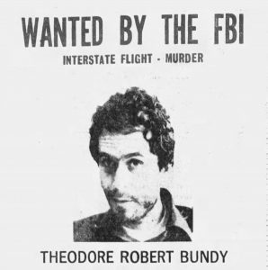 FBI wanted poster for Ted Bundy (The Pensacola News, via Newspapers.com)