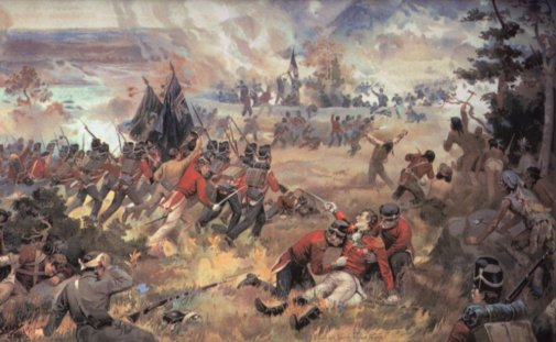 Battle of Queenston Heights during War of 1812