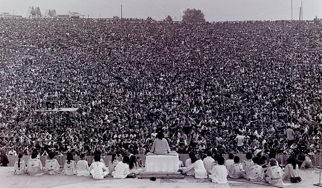 Opening ceremony at Woodstock, 1969