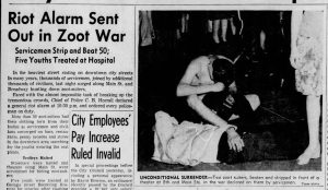 Headlines from the Zoot Suit Riot (Los Angeles Times, via Newspapers.com)